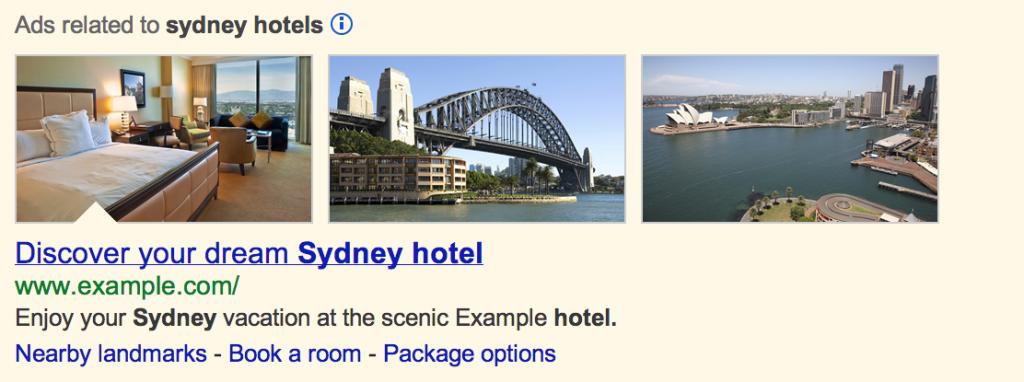 Ejemplo de extensión de imagen en AdWords