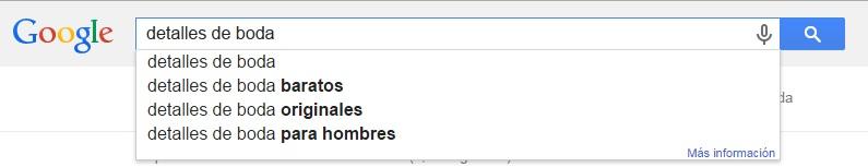 Sugerencias de Google Instant